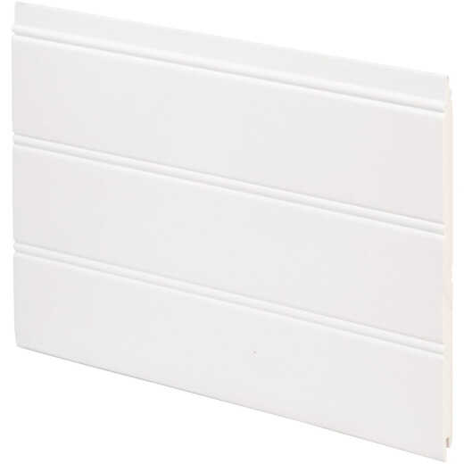 Inteplast Building Products 7-1/2 In. x 1/4 In. H. x 34 In. L. White PVC Reversible Beaded Wainscot Kit (6-Pack)