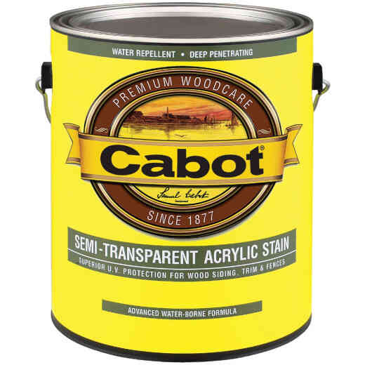 Cabot Semi-Transparent Exterior Stain, Neutral Base, 1 Gal.
